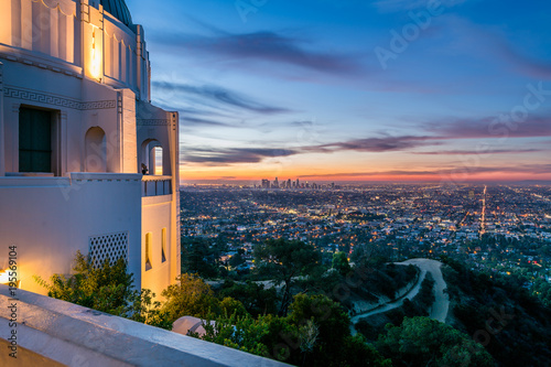 Los Angeles Sunrise from the Observatory Canvas Print