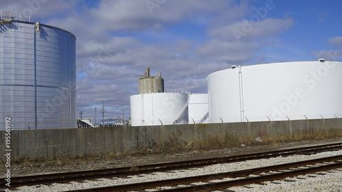 Foto op Plexiglas Stadion Fuel Storage Tanks - Political Revisionism