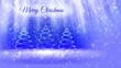 light composition for merry Christmas background with three 3d Christmas tree