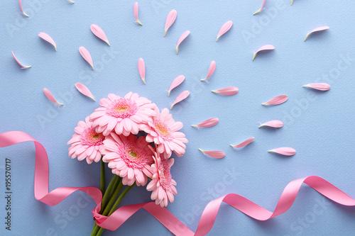 Deurstickers Gerbera ピンクのガーベラ