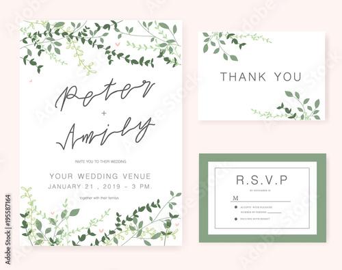 wedding invitation card Wallpaper Mural
