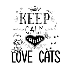 Funny Pets And Lettering- Keep...