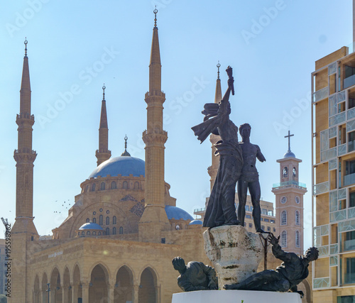 Fotomural Mohammad Al Amin Mosque in Beirut Lebanon 2 february 2018