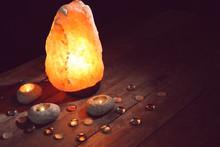 Himalayan Salt Lamp And Candle...