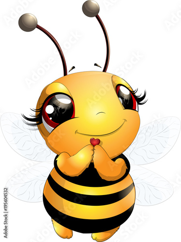 Beautiful cute bee Fototapeta