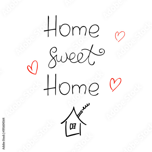 home-sweet-home-ink-vector-lettering