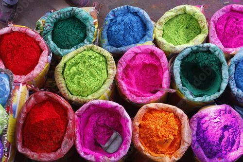 Staande foto India bright Indian colors , Jaipur, Rajasthan, India