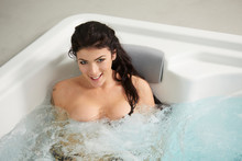 Beautiful Brunette Relaxing In...