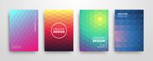 Modern Summer Futuristic Abstract Geometric Covers Set