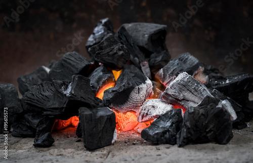 Hot Coal Fire Ash Heat Burning Bonfire Fireplace Charcoal