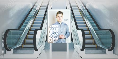 Photo advertisment billboard escalators