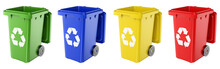 3D Dustbins Of Various Colors