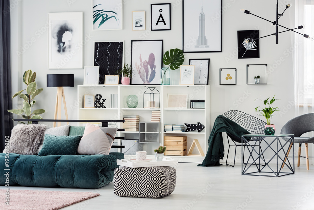 Fototapety, obrazy: Bright interior with decorations