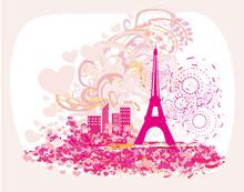 Vintage Retro Eiffel Tower Abs...