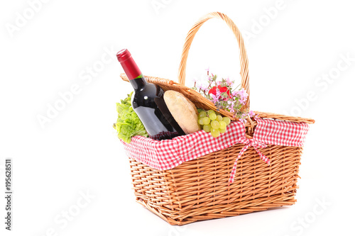 Fototapeta summer picnic with basket