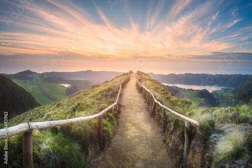 Fotobehang Bergen Mountain landscape Ponta Delgada island, Azores