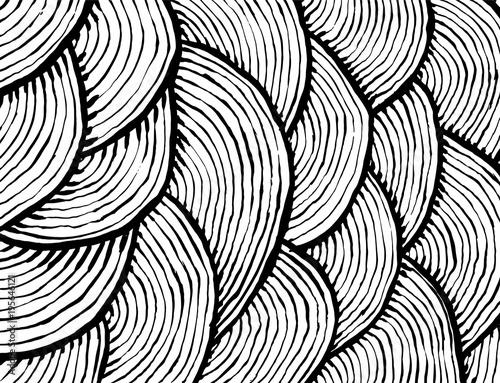 Spoed Foto op Canvas Psychedelic Brush stroke pattern. Watercolor.