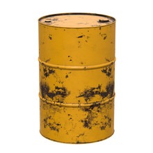 Old Rust Metal Barrel Oil Isol...