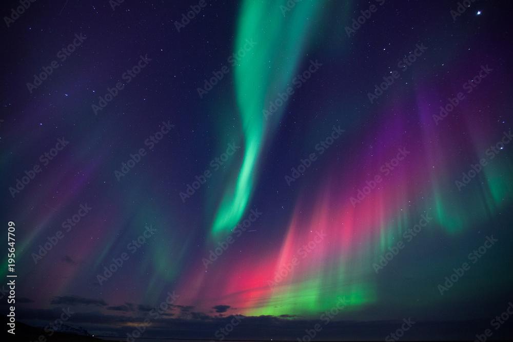 Fototapeta Islanda, aurora boreale