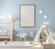 Frame Mockup In Child Interior...