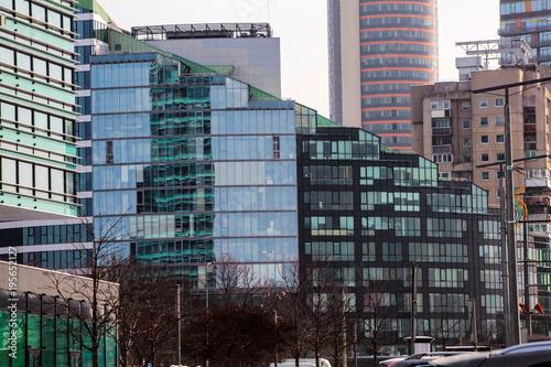 In de dag Berlijn Different Buildings Fragments