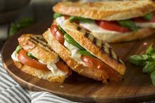 Healthy Grilled Basil Mozzarella Caprese Panini