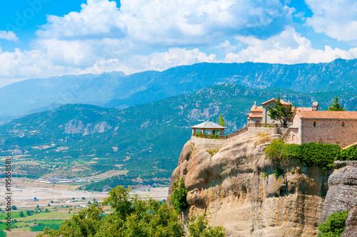 Foto op Plexiglas Cyprus Summer landscape in Meteora complex, Greece