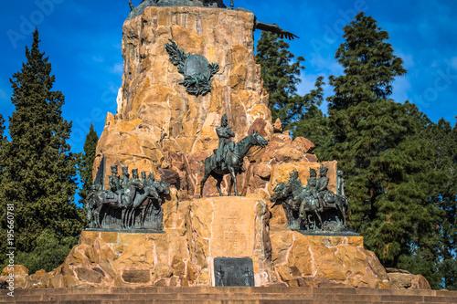 Photo Mendoza - July 05, 2017: Memorial statue at Cerro de la Gloria in Mendoza, Argen