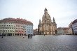 Church Frauenkirche in the cloudy day, Dresden, Saxony, Germany