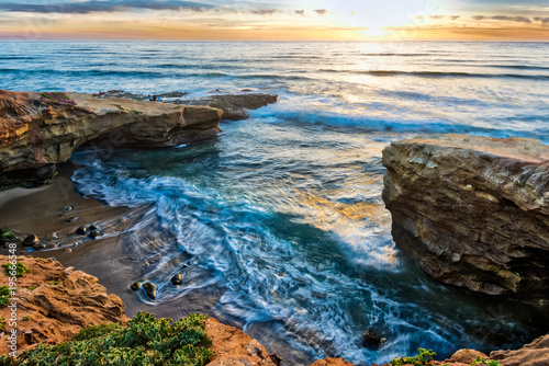 Foto op Aluminium Kust Pappy's Point at Sunset Cliffs