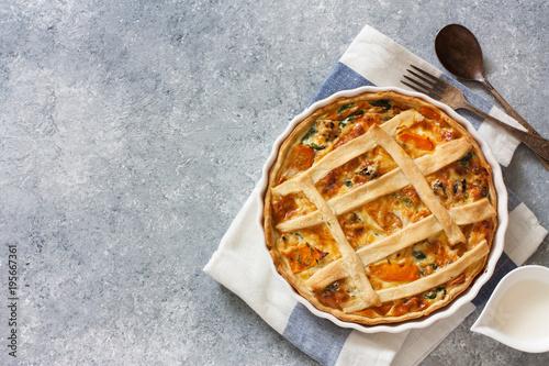 Plakat Ciasto z dyni i szpinakiem (quiche)