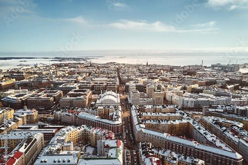 Fotografie, Obraz Helsinki, Finland - February 21, 2017: Aerial View Fredrikinkatu