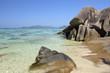 Anse Source d'Argent with Sculpted Rocks, La Digue, Seychelles