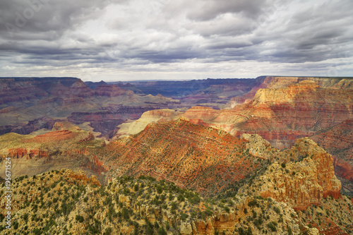 Deurstickers Landschappen Erosion Landscape, South Rim, Grand Canyon, Coconino County, Arizona, USA