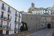 Historic center, Gateway, Portal de Ses Taules, main entrance to the walled enclosure of the old town of Ibiza, Balearic Islands.Spain.