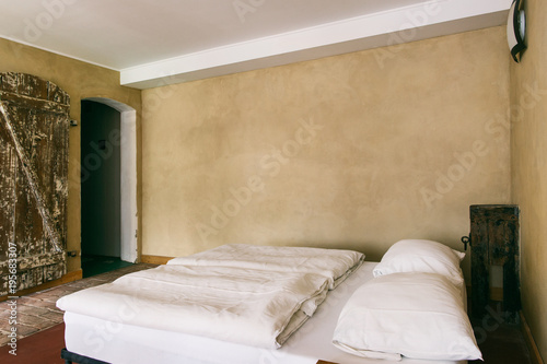 Poster Rustic Beige Bedroom