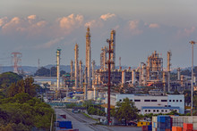 Oil Refinery On Jurong Island. Singapore.