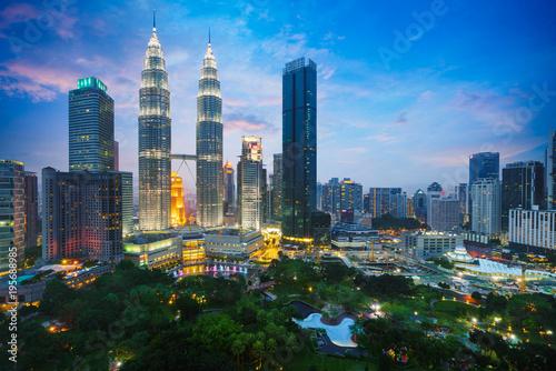 Photo Stands Kuala Lumpur Kuala lumpur city skyline at dusk, Kuala lumpur, Malaysia
