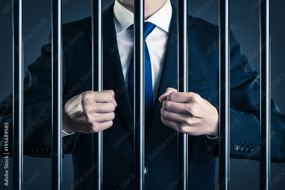 Fototapeta ビジネスマン 汚職 牢獄