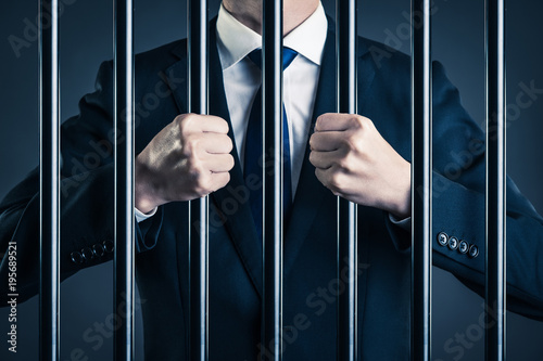 Photo ビジネスマン 汚職 牢獄
