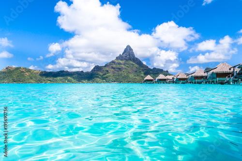 Poster Turquoise Bora Bora Island, French Polynesia.