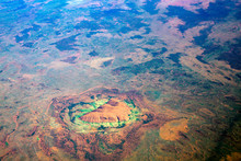 Red Earth And Ululu Rock In Th...