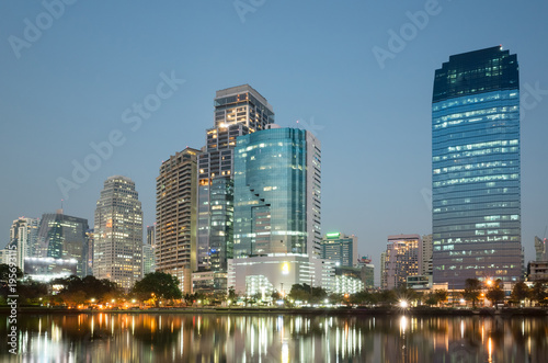 cityscape of night Poster