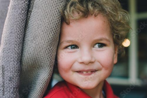 Portrait of a cute blond kid