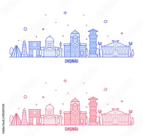 фотография  Chisinau skyline, Moldova city buildings vector