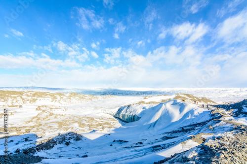 Valokuva  At the icecap in greenland
