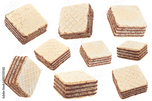 Stampe  Square wafers stick on white collection