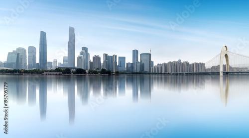 Spoed Foto op Canvas Abu Dhabi Modern metropolis skyline, guangzhou, China