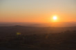 A view of the sunset over Dartmoor, UK