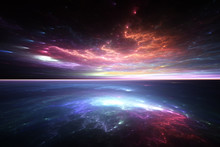 Fractal Horizon, Abstract Rend...